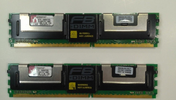 KTH-XW667/2G Kit PC2-5300 667MHz FBD FBDIMM 2GB(2x1Gb) DDR-II