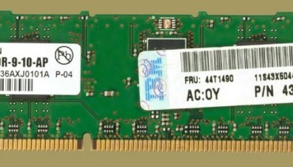 44T1490 PC3-10600R DDR3 ECC Reg 1Rx8 1GB