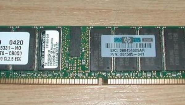 300701-001 PC2100 SDRAM Kit (1x1024MB) для DL140 1GB ECC