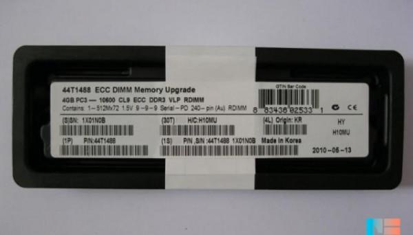 44T1488 PC3-10600 ECC DDR3 Reg VLP Drank 1x4GB SD