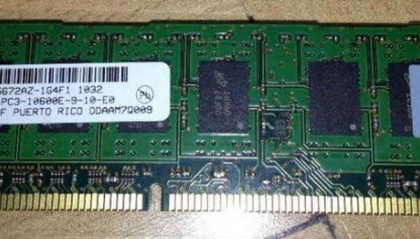 500209-061 UNBUFFERED PC3-10600 ECC 2GB 1X2GB