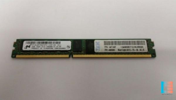43X5051 DDR3 ECC 1R VLP PC3-10600 2Gb REG