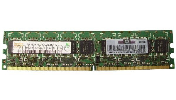 432930-001 667MHz ECC/Non-Registered 1GB PC2-5300E