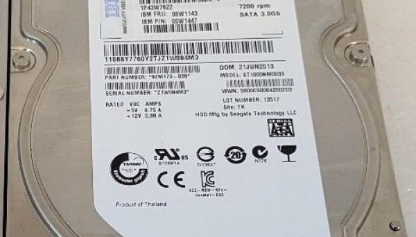 00W1143 HDD LFF SATA 7.2k SS 1TB 3.5