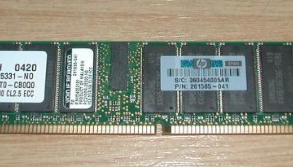 261585-041 (DL380G3/DL360G3/ML370G3/DL560) PC2100 ALL 1GB REG