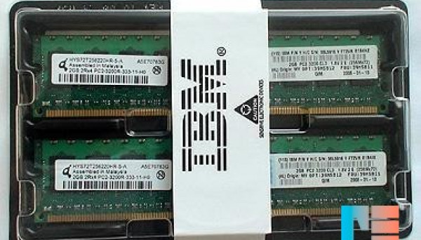 39M5818 RDIMM (2x512MB) ECC DDR2 Non Chipkill SDRAM 1GB PC2-3200