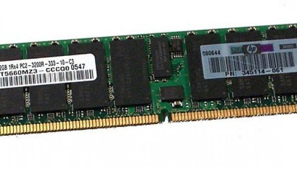 413386-001 ECC DDR2 PC2-3200 400Mhz CL3 2Gb 1Rank