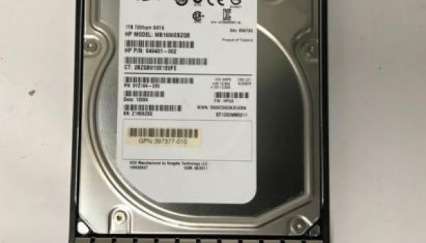 507772-B21 SATAII Plug (U300/7200) 1000Gb Hot