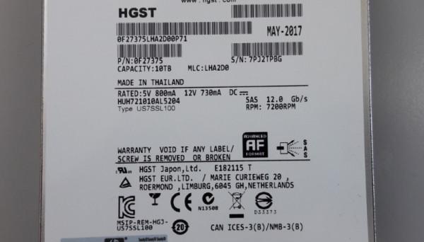 868230-001 G4 12G SAS 7.2K LFF HDD 10TB MSA