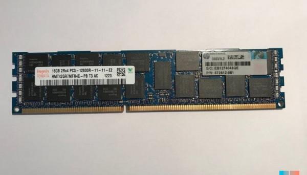 672612-081 PC3-12800R DDR3-1600 Reg ECC 16GB 2Rx4