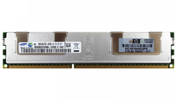 501538-001 Kit Quad Rank x4 PC3-8500 (DDR3-1066) Registered CAS-7 Memory 16GB (1x16GB)