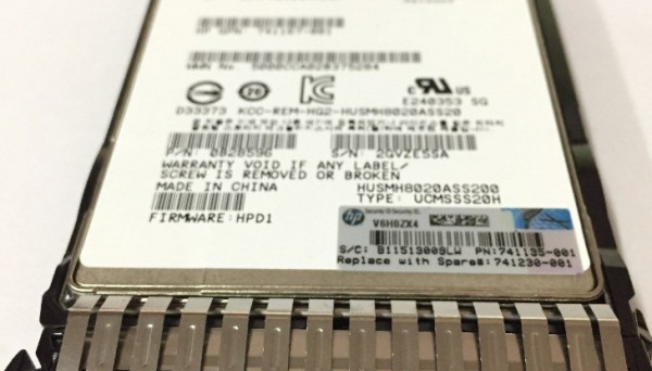 741152-B21 SAS High Endurance SFF 2.5-in SC Enterprise SSD 200GB 12G