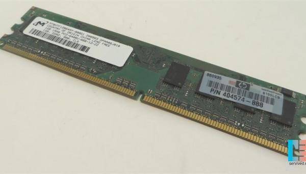 418951-001 DDR2 Non-ECC 240 pin 1.8V 800MHz Unbuffered DIMM 1GB PC2-6400