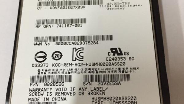 EO0200JDVFA SAS High Endurance SFF 2.5-in SC Enterprise SSD 200GB 12G