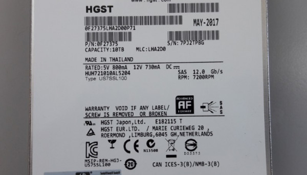 P9M82A G4 12G SAS 7.2K LFF HDD 10TB MSA
